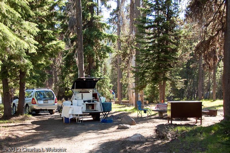 Campsite At Mazama Campground At Crater Lake Or Charlie